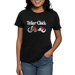 Triker Chick, Trike, On Black T-Shirt