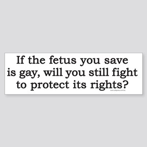 fetusT Sticker (Bumper)