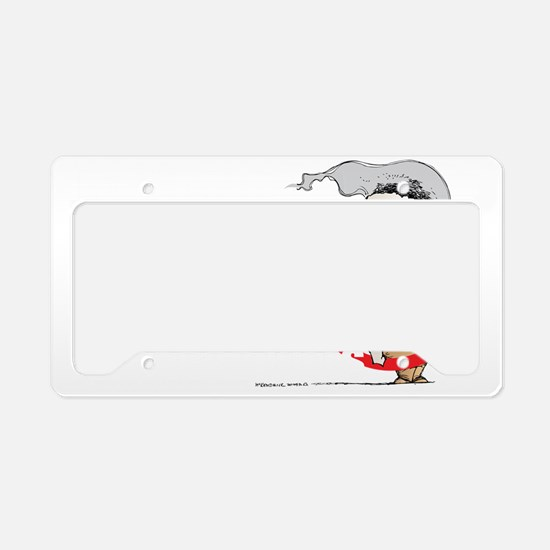 Butthead-blk License Plate Holder