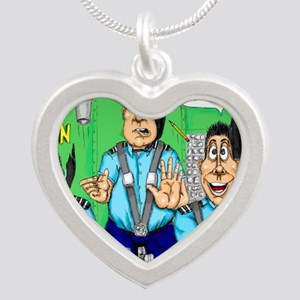 CHECK AIRMAN Silver Heart Necklace