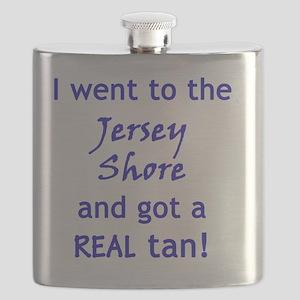 Jersey Shore Tan Flask