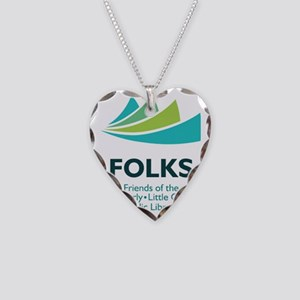 FOLKS_vertical Necklace Heart Charm