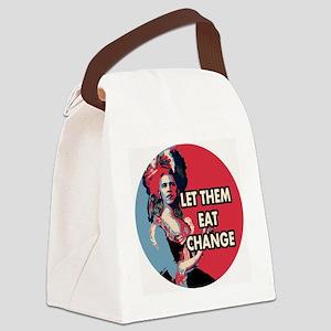 Let them eat change roundel Canvas Lunch Bag