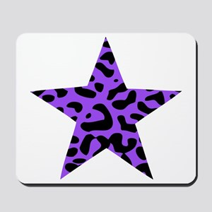 Leopard Star Purple Mousepad