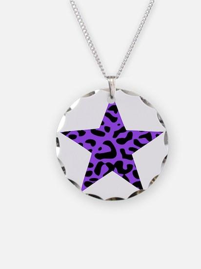 Leopard Star Purple Necklace