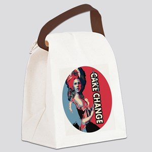 Copy of Cake Change roundel copy Canvas Lunch Bag