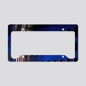 Pentagon Memorial Flag License Plate Holder