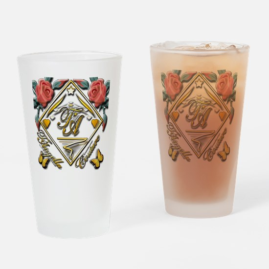 wht gold 4x4_pocket copy Drinking Glass