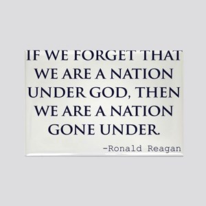 Reagan_nation-under-god-(white-sh Rectangle Magnet