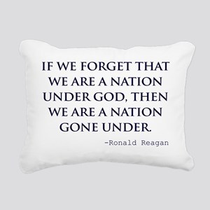 Reagan_nation-under-god- Rectangular Canvas Pillow