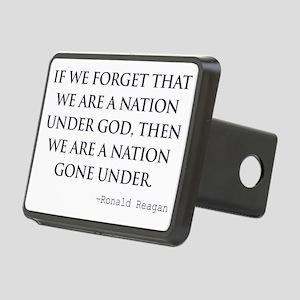 Reagan_nation-under-god-(w Rectangular Hitch Cover