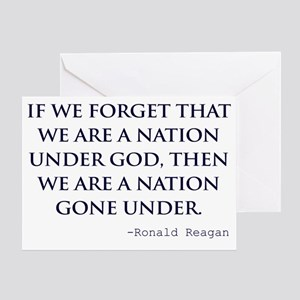 Ronald reagan greeting cards cafepress reagannation under god white shirt greeting card bookmarktalkfo Choice Image