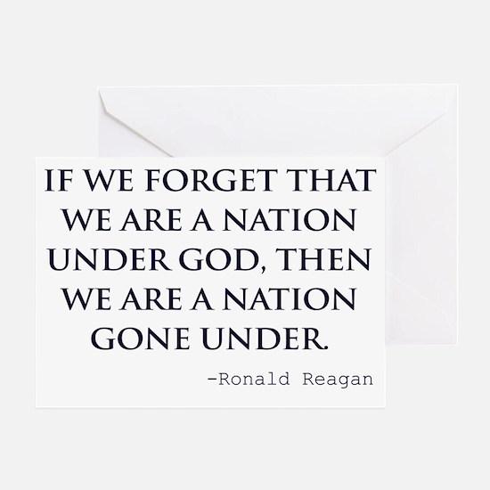 Reagan_nation-under-god-(white-shirt Greeting Card
