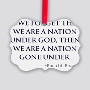 Reagan_nation-under-god-(white-sh Picture Ornament