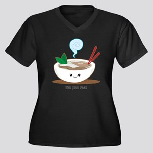 Pho Women's Plus Size Dark V-Neck T-Shirt