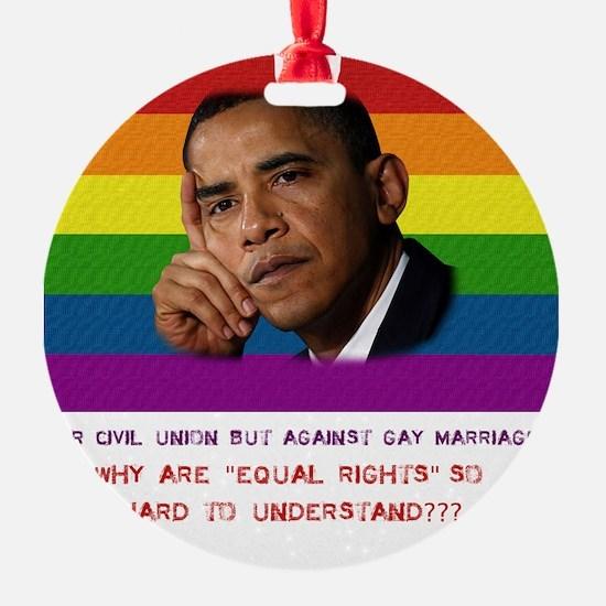 2-Obama rights Ornament