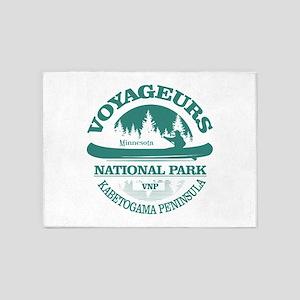 Voyageurs NP (Canoe) 5'x7'Area Rug