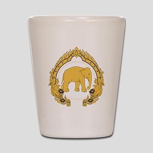 Thai-elephant-gold-black Shot Glass