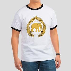 Thai-elephant-gold-black Ringer T