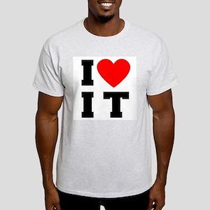 I Luv It Heart Ash Grey T-Shirt