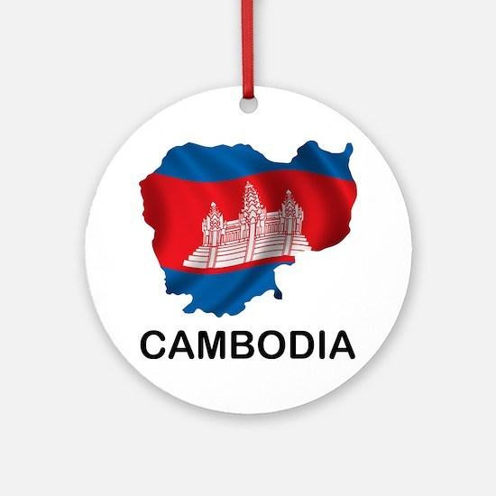 Cambodia2 Round Ornament