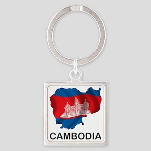 Cambodia2 Square Keychain