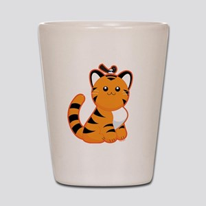 Tiger-magpie Shot Glass