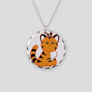 Tiger-magpie Necklace Circle Charm