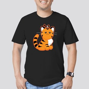 Tiger-magpie Men's Fitted T-Shirt (dark)