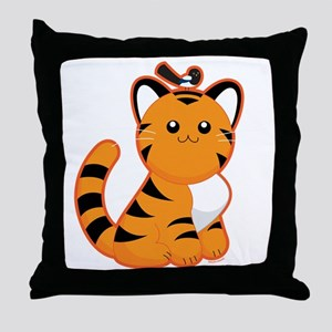 Tiger-magpie Throw Pillow
