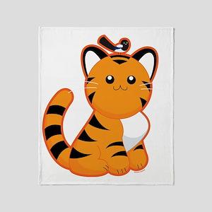 Tiger-magpie Throw Blanket