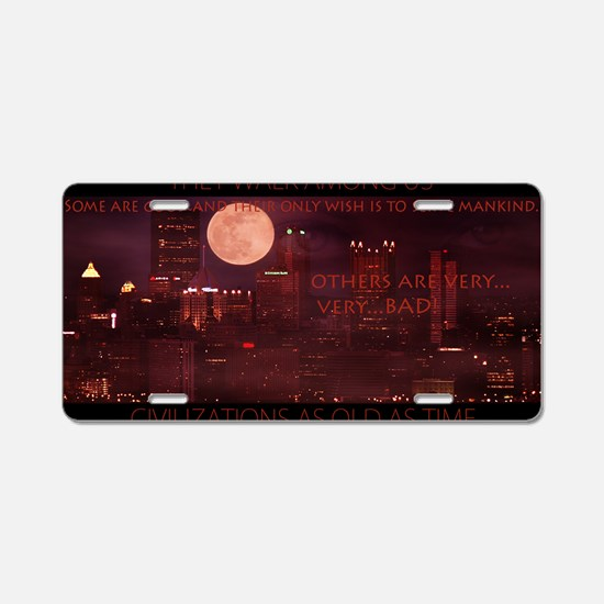 citynightsPOSTERDS Aluminum License Plate
