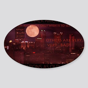 citynightsPOSTERDS Sticker (Oval)