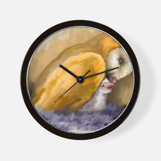 MollyFeedingYoung_LrgPstr_35x23 Wall Clock