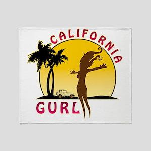 CaliforniaGurlzDark Throw Blanket