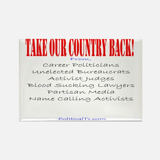Take our country back, from Rectangle Magnet