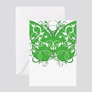 Muscular-Dystrophy-Butterfly-blk Greeting Card
