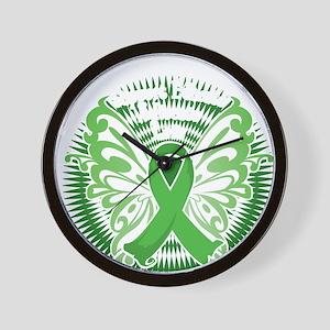 Muscular-Dystrophy-Butterfly-3-blk Wall Clock