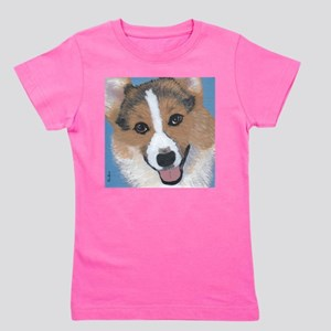 tri colored pembroke welsh corgi Girl's Tee