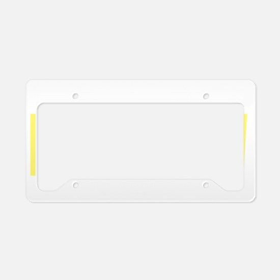 think-PALE-YELLOW-Spina-Bifid License Plate Holder
