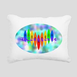 2-Tintedheartoval Rectangular Canvas Pillow
