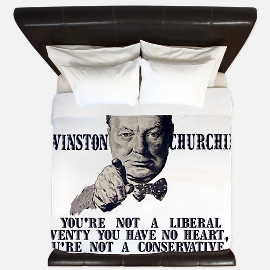 Churchill Liberals and Conservatives li King Duvet