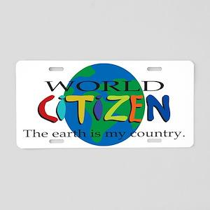 worldcitizen Aluminum License Plate