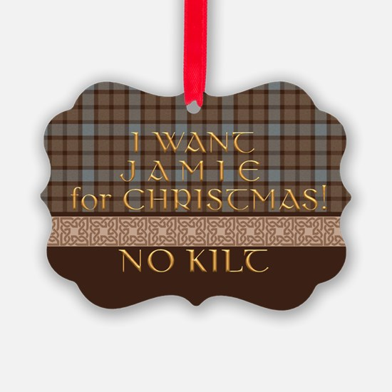 I Want Jamie For Christmaspicture Ornament