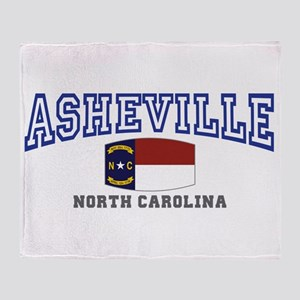 Asheville, North Carolina, NC, USA Throw Blanket