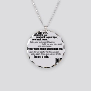 Im-on-a-mic_black Necklace Circle Charm