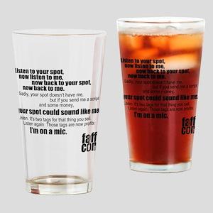 Im-on-a-mic_black Drinking Glass