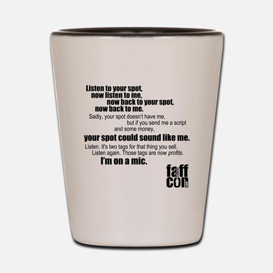 Im-on-a-mic_black Shot Glass