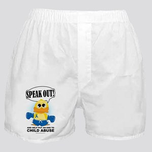 Boxing-Duck-Child-Abuse Boxer Shorts