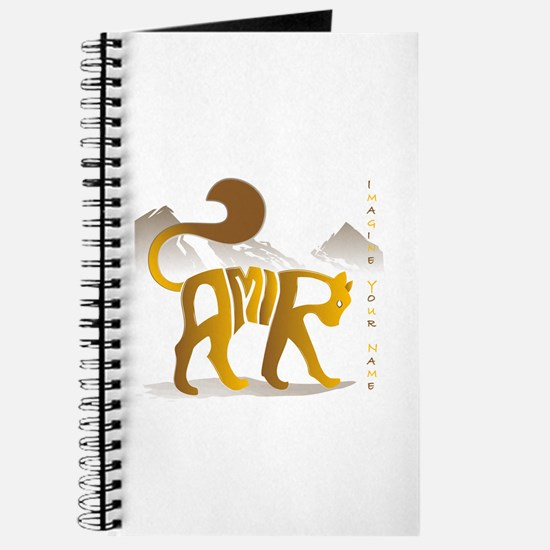 Amir gold and brown cat Journal